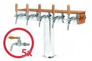 Výčepní stojan LINDR GRAND T nostalgie dub se světelnou reklamou 5x kohout