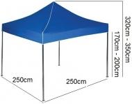Nůžkový stan 2,5x2,5m EKSPAND modrý se 3 boky