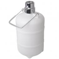 Sanitační sud s kovovou hlavou BAJONET. Slouží k proplachování pivního vedení vodou nebo pomocí sanitačního roztoku. Možnost použít sanitační houbičky.