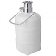 Sanitační sud s kovovou hlavou PLOCHÝ. Slouží k proplachování pivního vedení vodou nebo pomocí sanitačního roztoku. Možnost použít sanitační houbičky.
