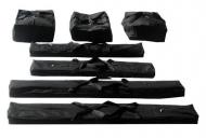 Přepravní vaky 4m PROFESSIONAL jsou určeny k uchovávání plachet a ocelové konstrukce zahradních párty stanů z kategorie PROFESSIONAL s kratší stranou o délce 4 metry (4x8m, 4x10m, 4x12m).