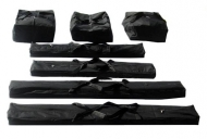 Přepravní vaky 5m PROFESSIONAL jsou určeny k uchovávání plachet a ocelové konstrukce zahradních párty stanů z kategorie PROFESSIONAL s kratší stranou o délce 5 metrů (5x8m, 5x10m, 5x12m).