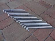 Sada kotvících kolíků 6x180mm - 14ks vhodná k ukotvení nůžkových stanů a zahradních párty stanů.