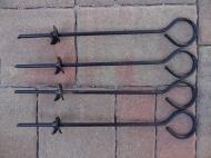 Sada spirálových kolíků 6x300mm - 4ks vhodná k ukotvení nůžkových stanů a zahradních párty stanů.
