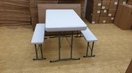 Malý skládací set - stůl a lavice.