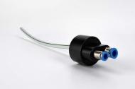 Sanitační adaptér DIN 45 s připojovacími rychlospojkami 9,5mm (nápoj) a 8mm (vzduch).