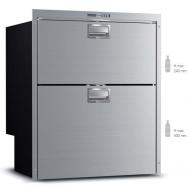 Kompresorová chladnička VITRIFRIGO DW210 RFX 12/24V se dvěma šuplíky (horní zásuvka mrazák 78l, spodní zásuvka chladnička 104l).
