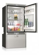 Kompresorová chladnička VITRIFRIGO DW250 RFX 12/24V (horní chladnička 157l, spodní zásuvka-chladnička 75l).