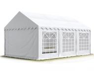 Párty stan PREMIUM 5x6 m bílý s rozměrem parcely 30 m2 poskytne přístřeší až 60 lidem a umístíte do něj i potřebné vybavení pro vaše letní akce.