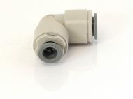 Rohová SS redukční spojka 8x9,5mm. Rohová redukční spojka na 8mm trubičku a 9,5mm hadici.