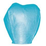 Lampion štěstí modré barvy. Rozměry: 40 x 60 x 106cm (40cm v nejužším místě, 60cm v nejširším místě, 106cm výška).