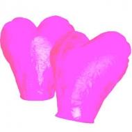 Lampion štěstí srdce - růžová. Rozměry: 40 x 60 x 106cm (40cm v nejužším místě, 60cm v nejširším místě, 106cm výška).