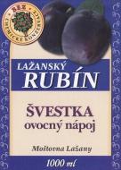 Ovocný nápoj - švestka 1l (obsah ovocné složky nejméně 15%). Tento nápoj doplňuje řadu kvalitních výrobků značky Lažanský RUBÍN. Zaujme Vás jistě svou osvěžující chutí.