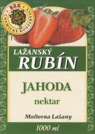 Ovocný nektar - jahoda 1l (obsah ovocné složky nejméně 40%). Tento nápoj doplňuje řadu kvalitních výrobků značky Lažanský RUBÍN. Zaujme Vás jistě svou osvěžující chutí.