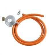 Hadice s regulátorem tlaku - set. Hadice na PB, vnitřní světlost 8mm, 2 hadicové spony a regulátor tlaku.