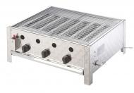 Nerezový plynový gril RASCAL Profi vám umožní si během celého roku připravovat chutné grilované pokrmy.