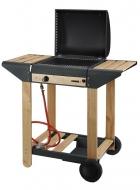 Plynový lávový gril ISCHIA má niklovaný rošt, piezozapalovač a jeho konstrukce a doplňky jsou z kvalitního teakového dřeva . Gril je vybavený dvěma odkládacími plochami, kolečky a víkem. Lávové kameny jsou v ceně. Dodává se včetně regulátoru tlaku a hadice.