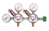 Možnost regulace 2 nezávislých tlaků. Redukční ventil na klasické lahve s N2. Připojovací závit na lahev W24,32