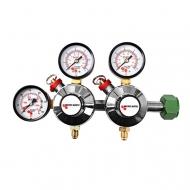 Redukční ventil MM N2 2 st. se využívá k regulaci dvou nezávislých tlaků z jednoho zdroje N2.