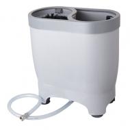Myčka pivního skla SPACEMATIC PLUS pro mytí pulitrů s uchem vybavená přívodní hadicí na vodu 3/8