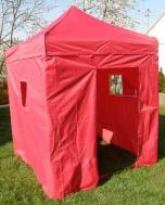 Nůžkový stan 2x2m DELUXE červený s boky