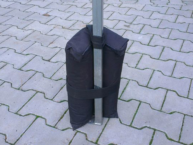 Nůžkový stan 2x2m CLASSIC modrý s boky