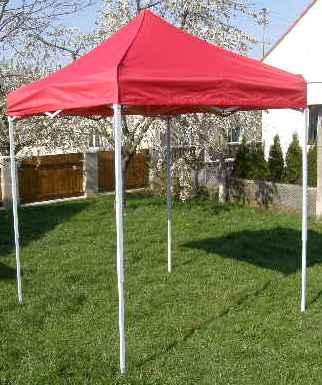 Nůžkový stan 2x2m CLASSIC červený s boky