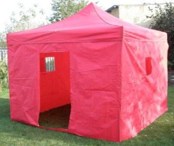 Nůžkový stan 3x3m DELUXE červený
