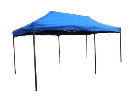 Nůžkový stan 6x3m DELUXE modrý s boky